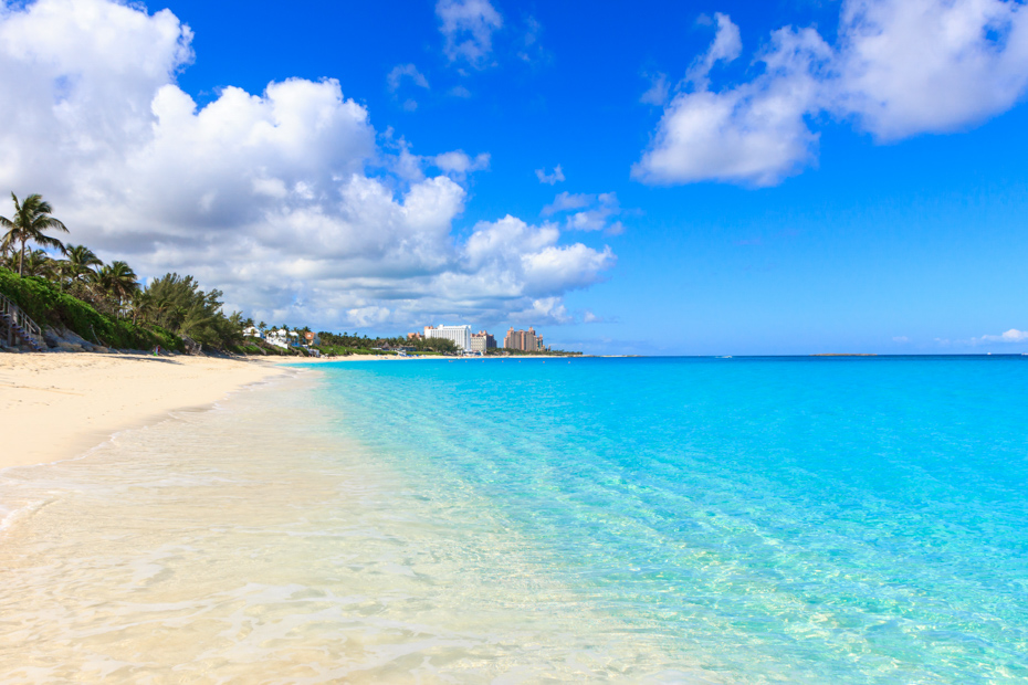 Dip your toes in the water at the white sand beaches of Nassau. There are plenty of things to do in Nassau cruise port besides Bahamas beaches, too! Public Paradise beach in Nassau, Bahamas.